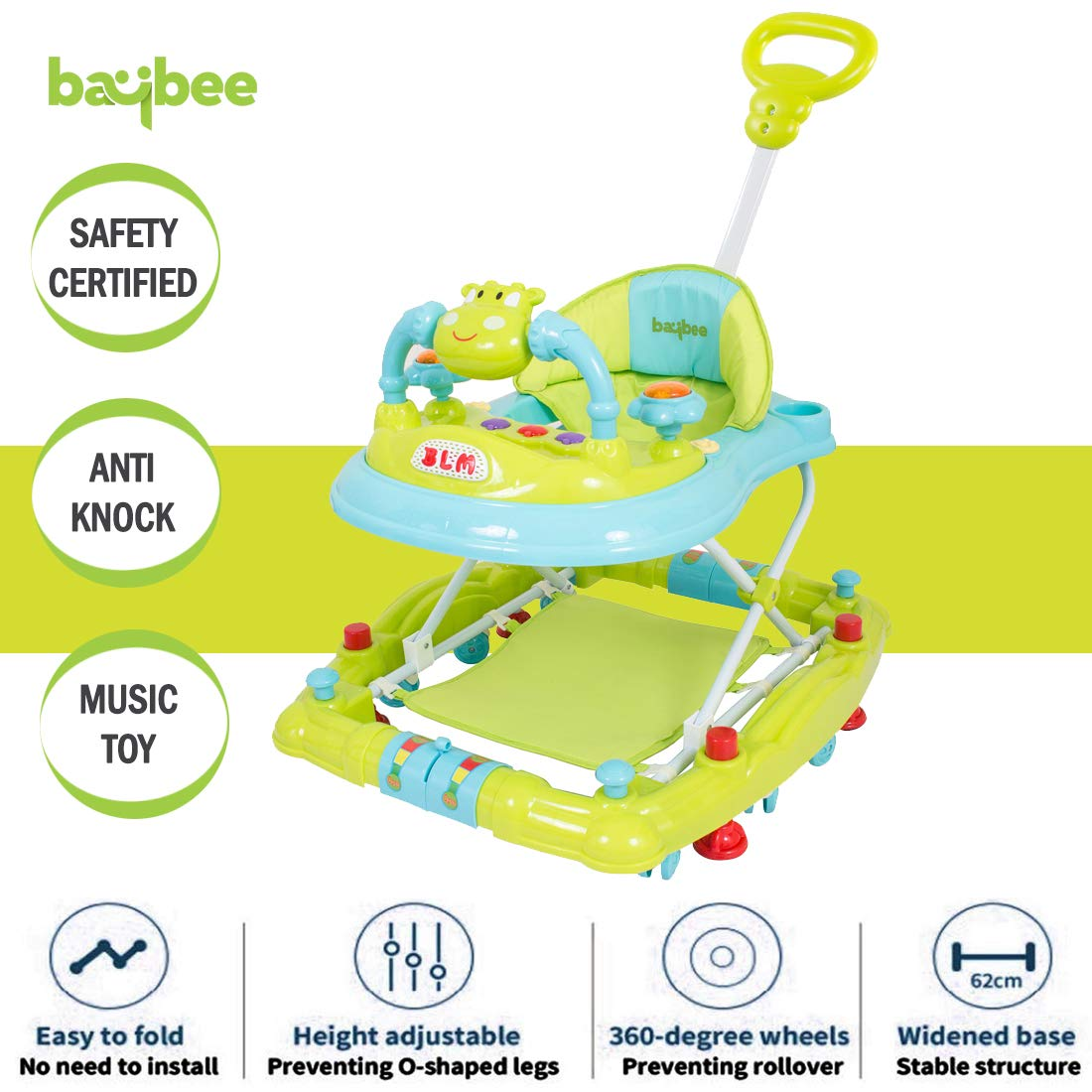 Baybee Forza Baby Walker Round Kids Walker For Babies Cycle