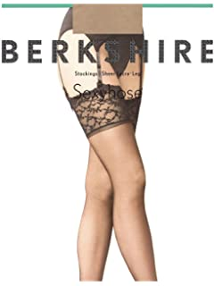 7ff901dc6aea8 Berkshire Women s Plus-Size Queen Silky Sheer Sexyhose Stockings 1361
