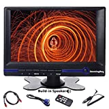 Car Monitor, Sourcingbay 7 Inch HD LCD Computer Monitor Built-in Speaker with HDMI/VGA/AV Input and Sun Hood for Computer/Camera/Car/PC
