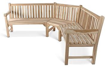 SAM Gartenbank, Eckbank, Sitzbank Aus Teak Holz 210 X 210 Cm, Massivholz