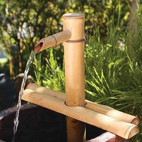 LITI Fuente De Agua del Jardín del Zen Fuente De Agua De Bambú ...