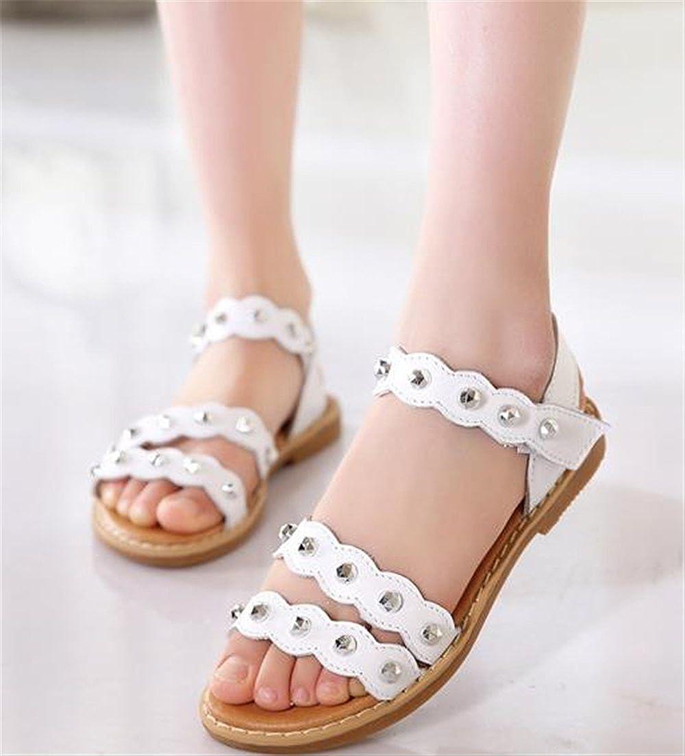 Girls Cute Open Toe Strap Sandals Summer Flat Princess Shoes