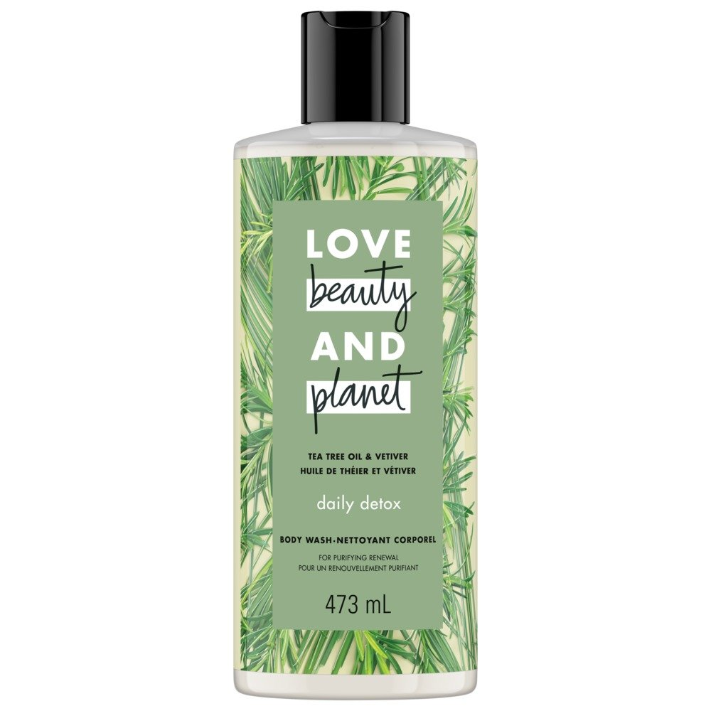 Love Beauty And Planet Tea Tree & Vetiver Daily Detox Body Wash 473 mL Unilever