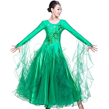 885a58fde ZooBoo Prom Ballroom Dance Dresses - Dancing Modern Smooth Waltz Tango  Party Latin Swing Competition Dancewear