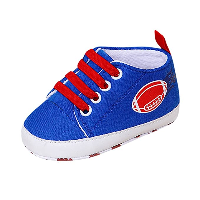 YanHoo Zapatos para niños Zapatillas de Deporte monocromáticas bebé Rugby impresión Antideslizante Zapatos de niño Zapatos de Fondo Suave Bebé recién Nacido ...