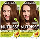Garnier Hair Color Nutrisse Nourishing Creme, 53 Medium Golden Brown (Chestnut), 2 Count