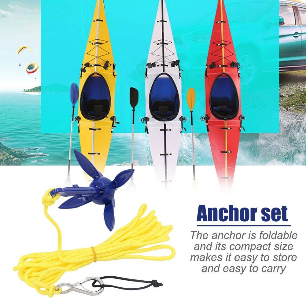 Faltbarer Aluminium Anker Kit mit Seil für Kanu Kajak Kleinboot