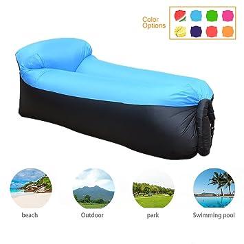 Newtendency Silla hinchable con bolsa de transporte portátil, sofá camas de aire portátiles para dormir