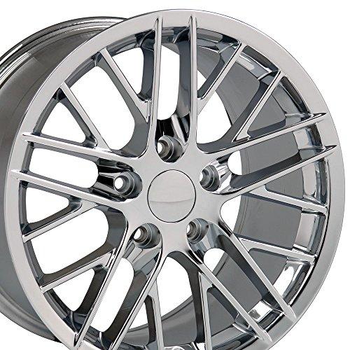 OE Wheels 17 Inch Fits Chevy Camaro Corvette Pontiac Firebird C6 ZR1 Style CV08A Chrome 17x9.5 Rim Hollander 5402 ()