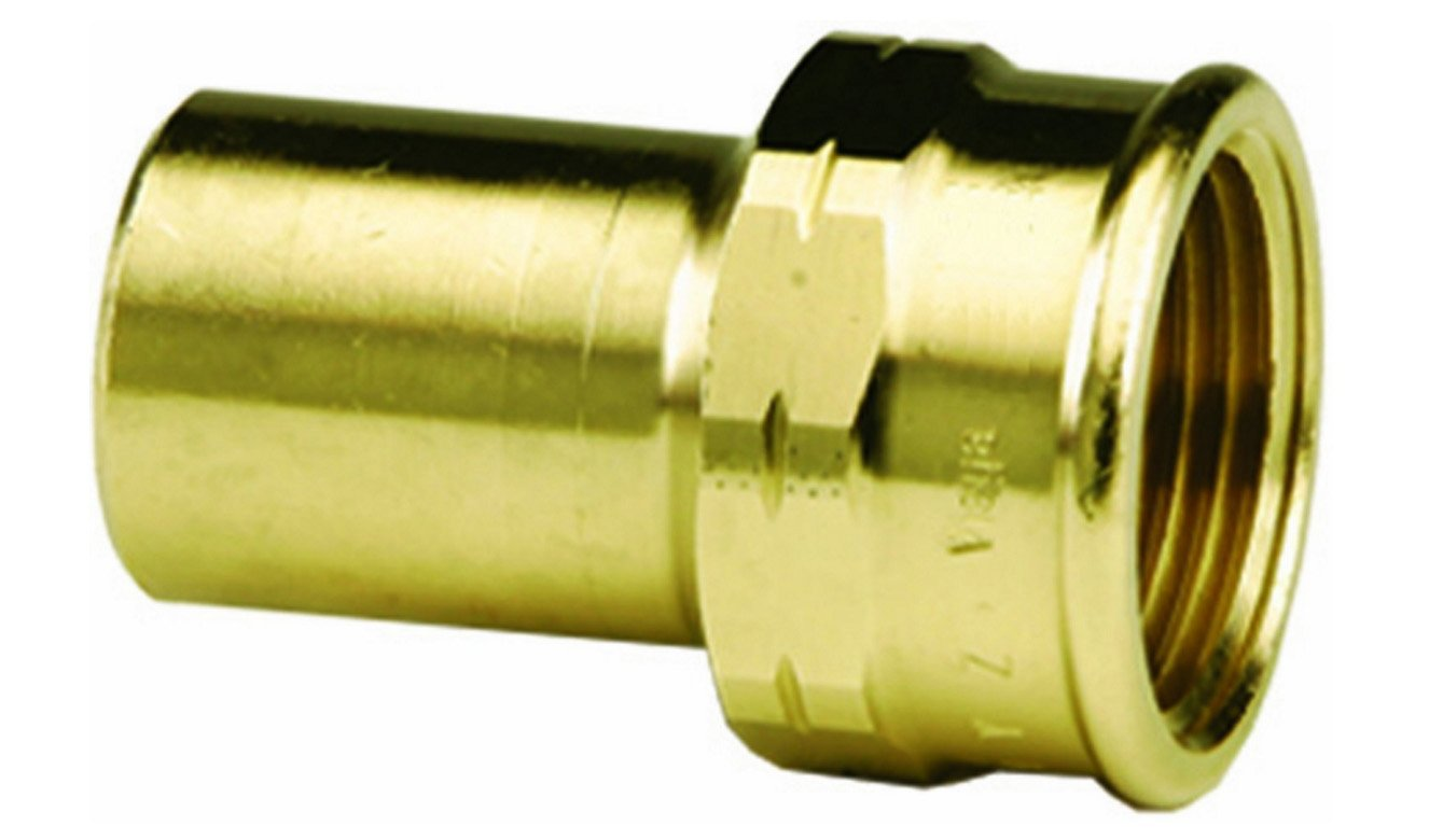 VIEGA 79445 Propress Zero Lead Bronze Adapter with Female 3/4'' x 3/4'' FTG x Female NPT (2-Pack) by Viega