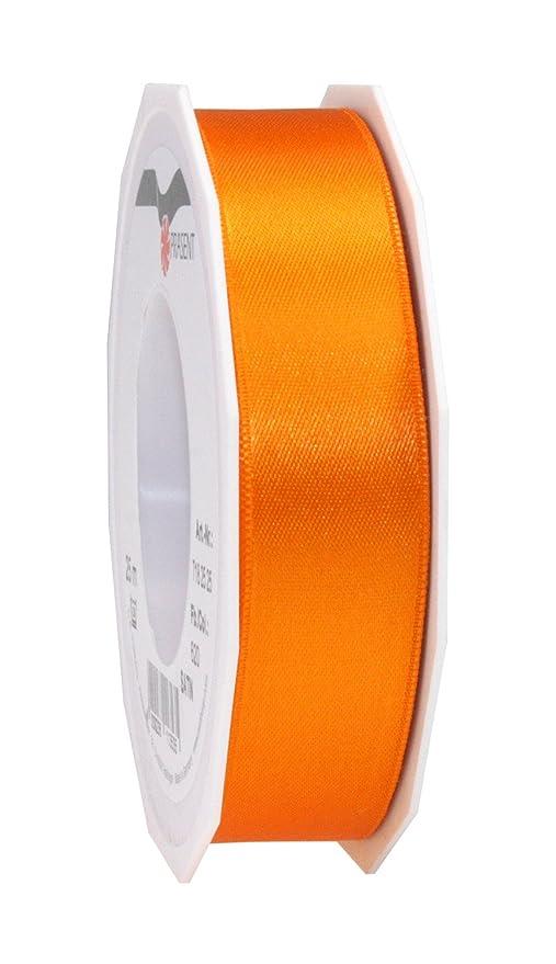pattberg 10 mm 25 m de Cinta de Raso de Doble Cara Amarillo Prasent C.E