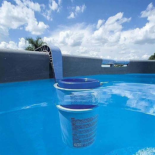 LAOZI Skimmer de Superficie de Piscina Skimmer automático de Montaje en Pared, Skimmer de Hojas de Servicio - para Limpiar Las Hojas y los desechos de la Piscina: Amazon.es: Jardín