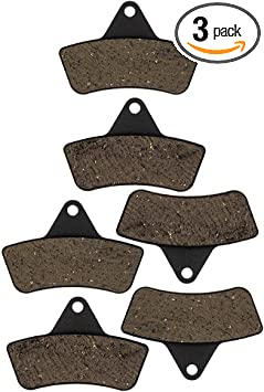 NICHE Organic Front//Rear Brake Pad Set For Arctic Cat Replaces 1402-126 0402-882
