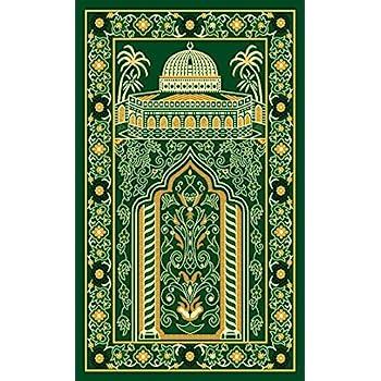 Islamic Prayer Rug Thick Muslim Prayer Rug Islam Traditional Design Nylon  Prayer Carpet With Non