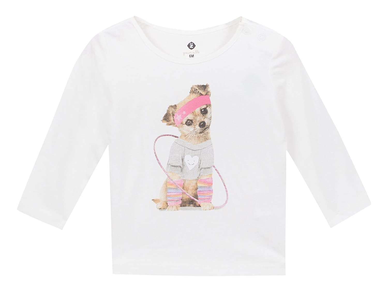 Grain de Blé T- Shirt Chien Écru, Bébé Fille 1K10100