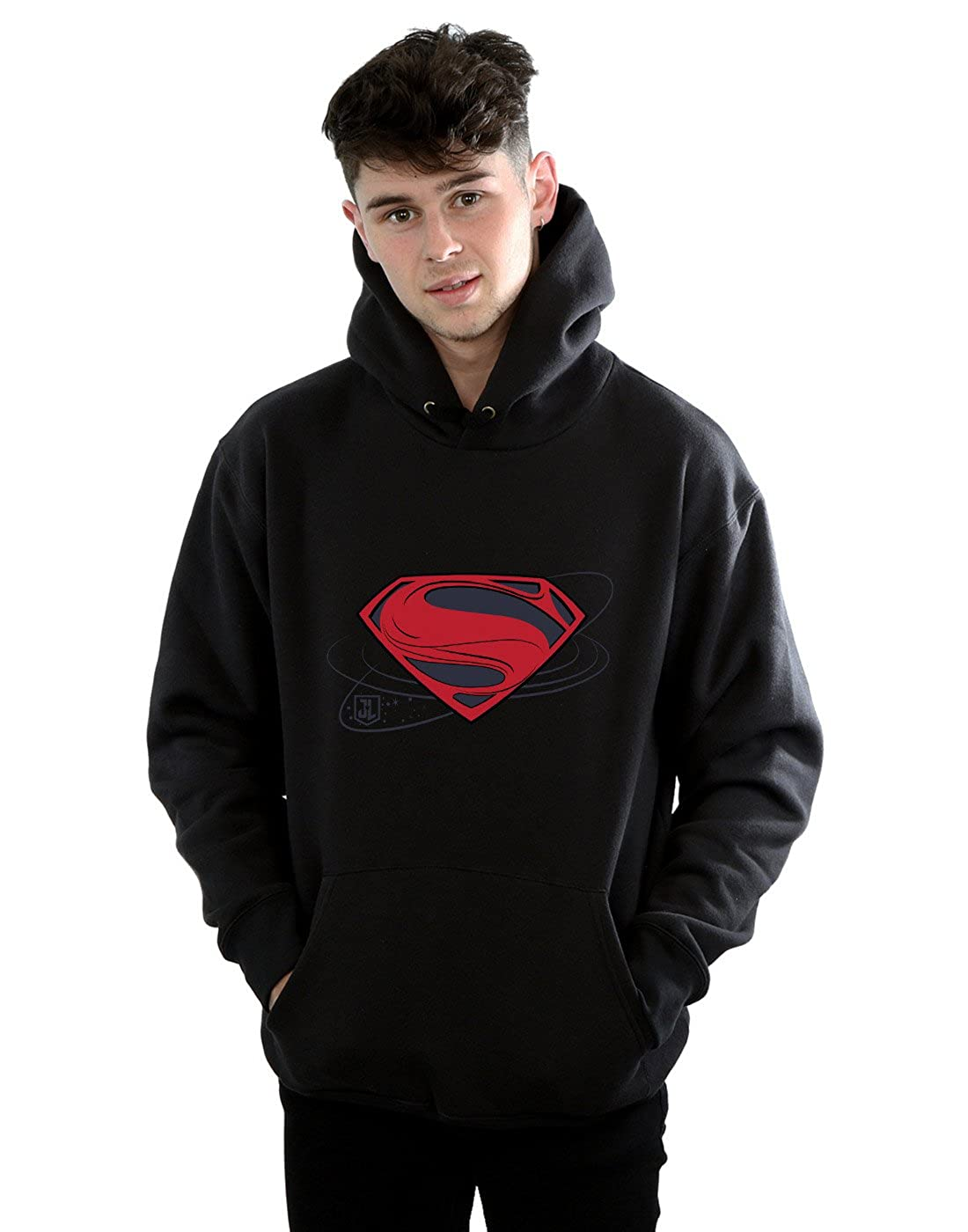 DC Comics Herren Justice League Movie Superman Logo Kapuzenpullover