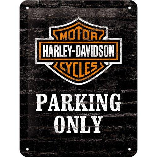 15 x 20 cm Nostalgic-Art 26117 Harley-Davidson Parking Only Metal Colourful