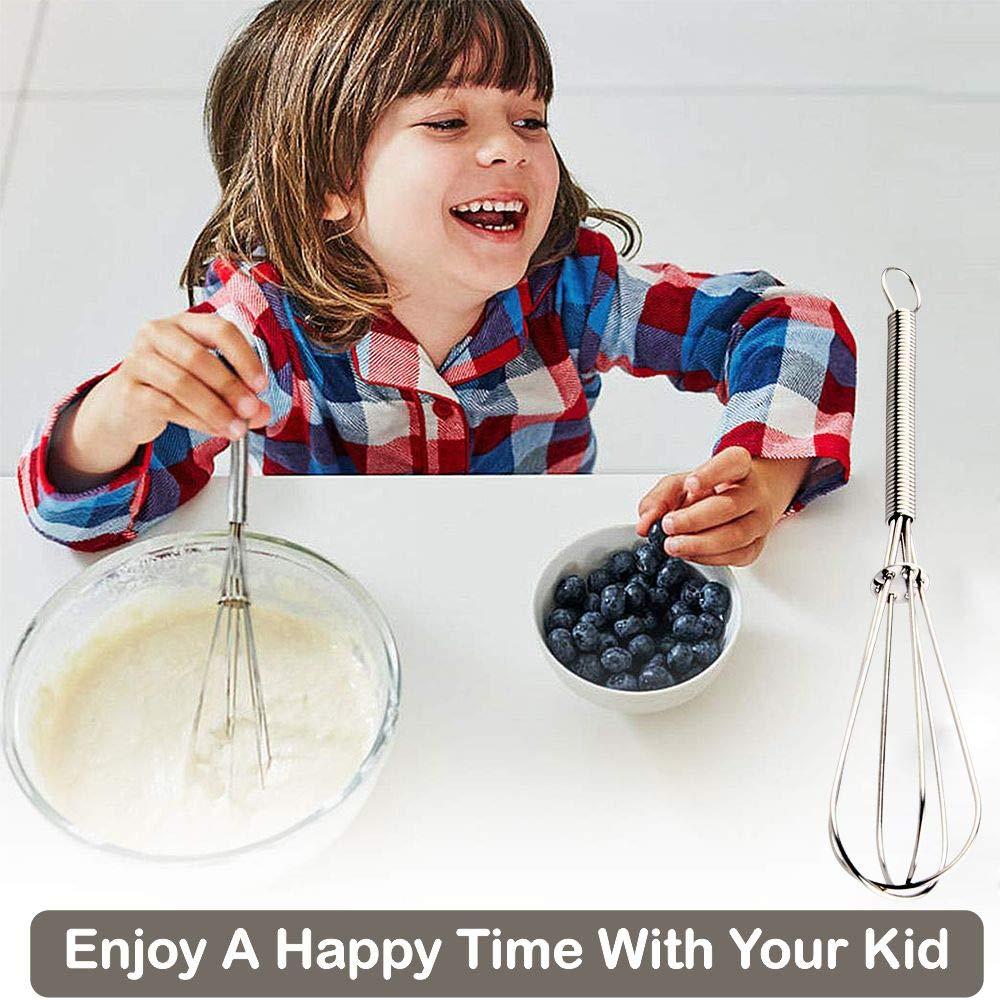 7 Inches Set of 8 Whisking Mini Balloon Wire Whisk Egg Beater for Mixing Egg Whisks Blending Stainless Steel kitchen whisk Beating /& Stirring