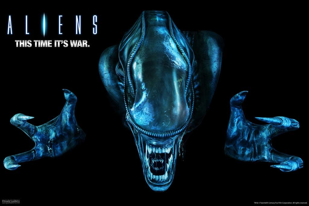 Pyramid America Aliens Movie This Time Its War Xenomorph Art Scary Horror Science Fiction Classic Retro Cool Wall Decor Art Print Poster 12x18