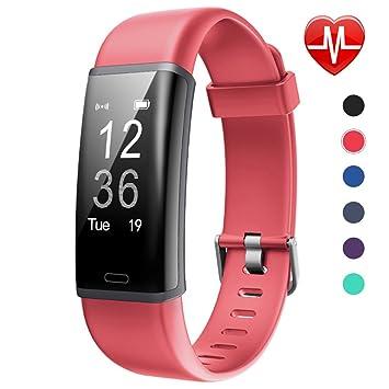 62f10f040c871 Lintelek Tracker d'Activité Cardiofréquencemètre, Montre Connectée IP67  Etanche Bracelet Sport Podomètre Calorie Smartwatch