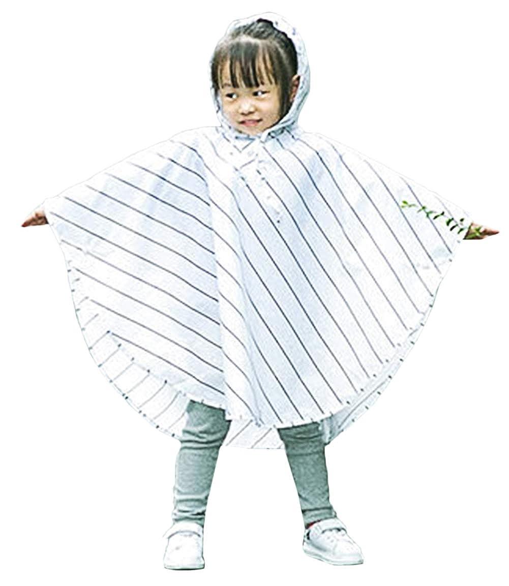 Bevalsa Impermeabile Poncho Impermeabilei Bambini Simpatico cappello ombrello Impermeabile con cappuccio Antipioggia per Bambini Cappello da Pioggia mantello impermeabile VASA1613-WH