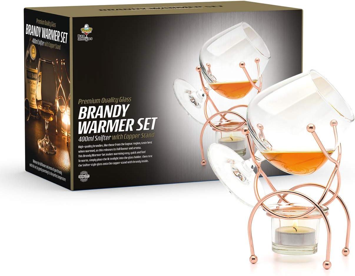 Silver Vin Bouquet FIA 269 Brandy et Cognac Plus Chaud Acier Inoxydable 20 x 15 x 11,5 cm