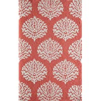 Momeni Rugs VERANVR-45COR2030 Veranda Collection Contemporary Indoor & Outdoor Area Rug, 2 x 3, Coral