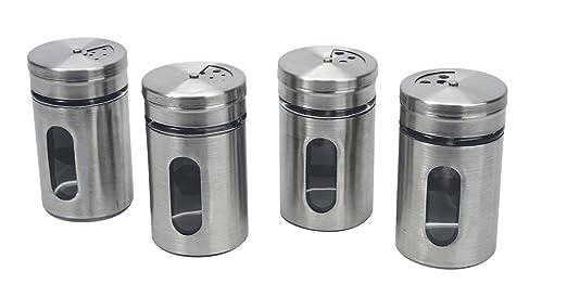 7 opinioni per Equinox 503059, Confezione 4 contenitori porta speize in acciaio inox e vetro