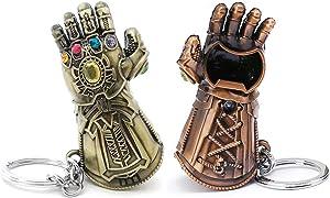 VNFLY Infinity Gauntlet Keychain Bottle Opener Thanos Glove Keychain Bottle Opener Thanos Beer Bottle Opener Keychain (Bronze)