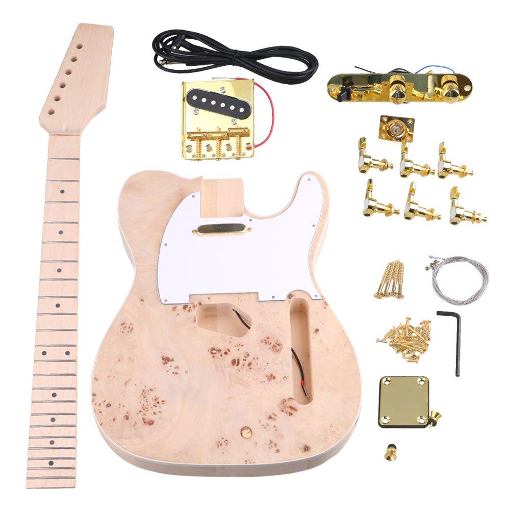yibuy arce 2 Single Coil Pickup 21/22 F TL Guitarra eléctrica DIY Kit Set con todos los accesorios para guitarra Builder: Amazon.es: Instrumentos musicales