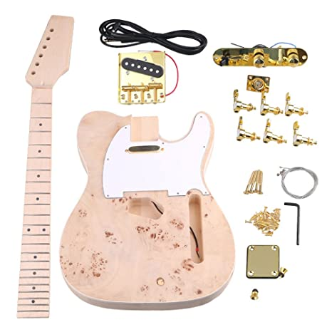 yibuy arce 2 Single Coil Pickup 21/22 F TL Guitarra eléctrica DIY Kit Set