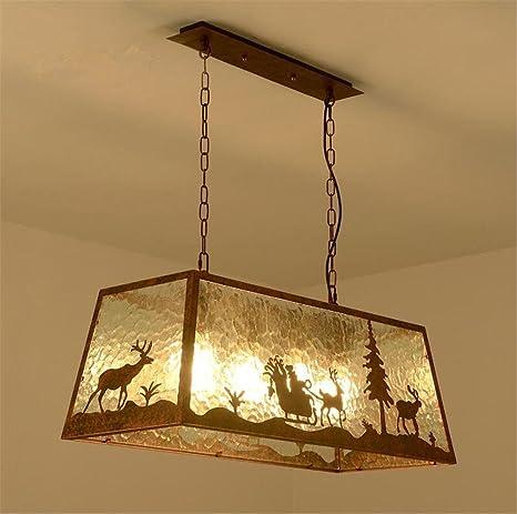 Atmko®Iluminación colgante Lámparas de araña Retro Galss ...