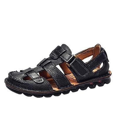 ODRD Sandalen Shoes Lässige Sommer Herren Ledersandalen
