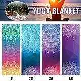 Empathy.H Diamond Double-Sided Non-Slip Sweat-Absorbent Yoga mat Fitness Blanket Practice Pilates Blanket(18363cm