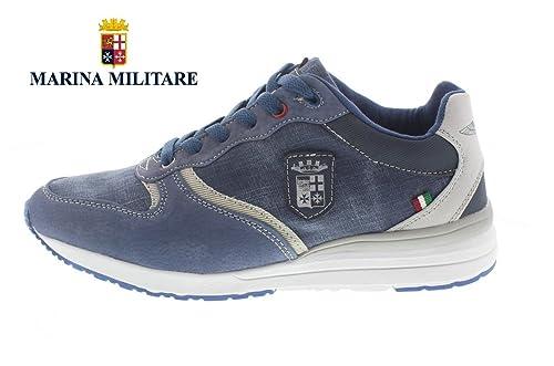 4ba987d78e39ed Marina Militare Scarpe Uomo Sneakers CAMOSCIO/Jeans Blu - MM465 (43 EU)