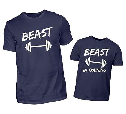 Vater Sohn Tshirt Partnerlook Beast Und Beast In Training