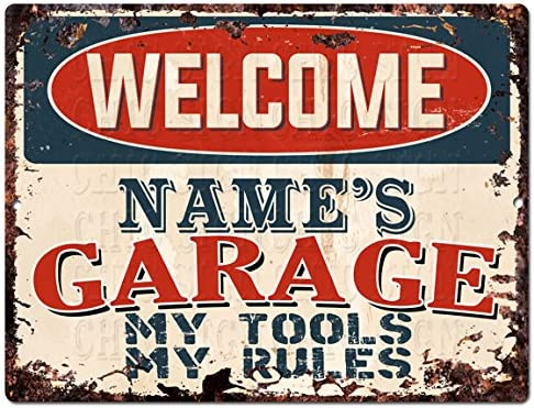 US Seller bathroom wall decor garage bars tool rules tin metal sign