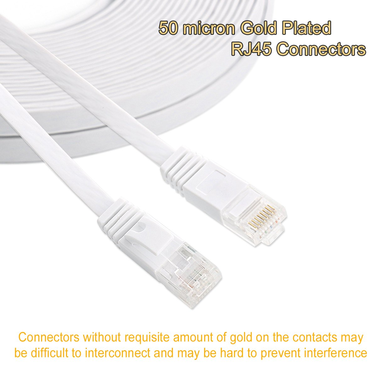 Ethernet Rj45 Connector Modular Crimp Wiring A Jack Connectors Plugs 50 Micron Gold Plated Only For Cat6 32awg Flat Cable Computers
