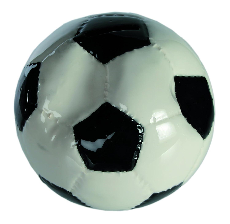 Cerámica de alta calidad blanco y negro aplastado fútbol caja de ...