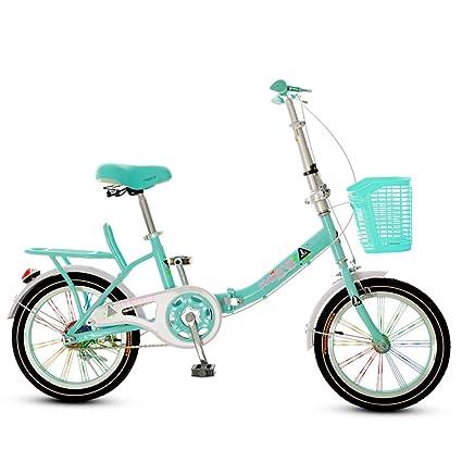 Bicicleta Plegable para Niños Bicicleta de Niños y Niñas DE 16 Pulgadas Chica de 6-