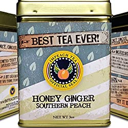 IMPEACH TEA Premium Loose Leaf Black Tea – Hot or Iced Tea - 30 Servings (Honey Ginger Southern Peach 3 oz)