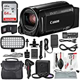 Canon Vixia HF R82 HD Camcorder Deluxe Bundle W/ 64 GB SD Card, Camcorder Case, 3 Pc. Filter Kit, LED Light Kit and XPIX Cleaning Accessories