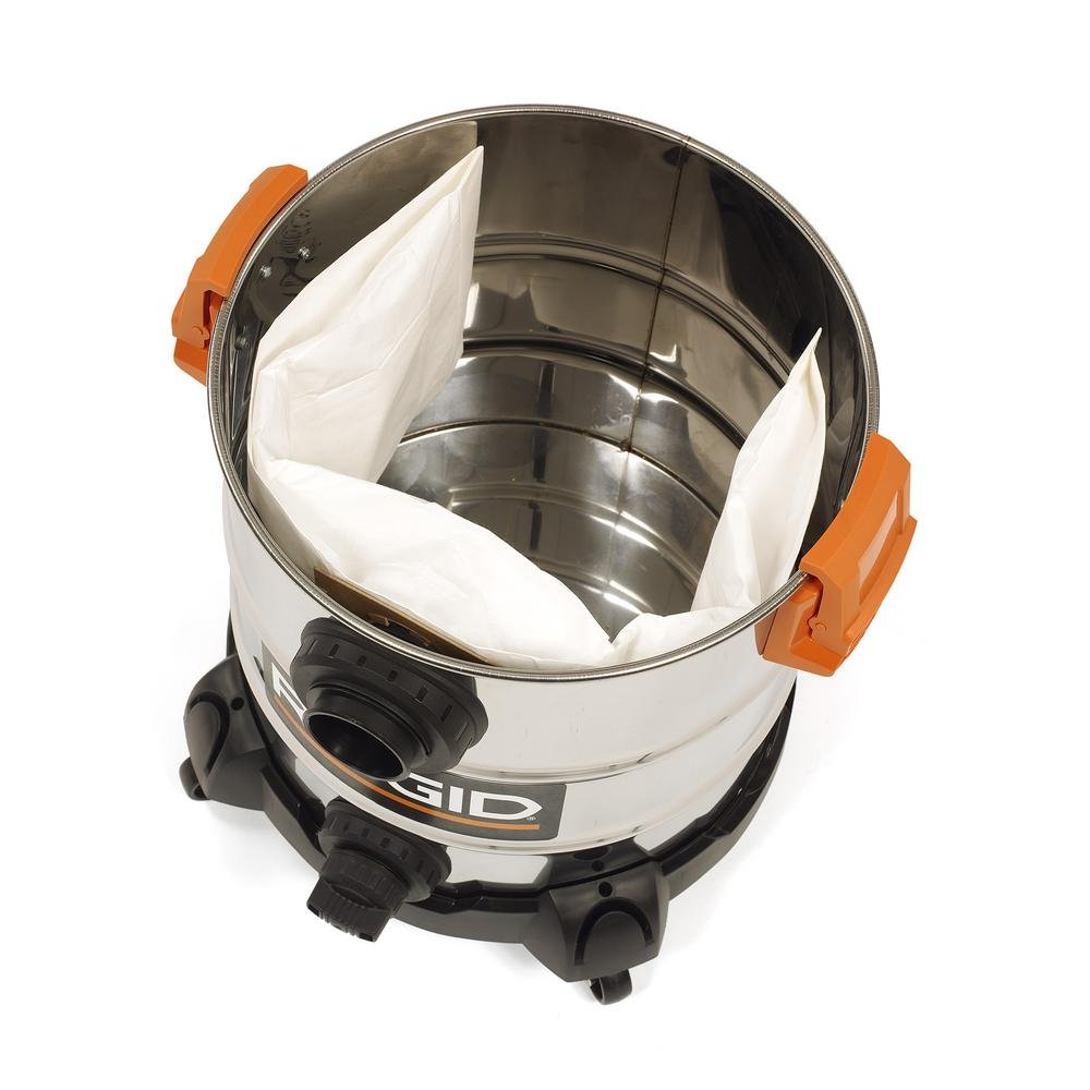 RIDGID 10 Gal. 6.0 Peak HP Stainless Wet Dry Vacuum WD1060 Vac + Toucan City Tile and Grout Brush by Ridgid + Toucan City (Image #5)