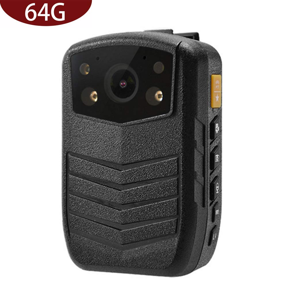 Meknic Q3 2K High Definition Portable Security Guards 64G Body Camera, Police Body Worn Mounted Camera Good Night Vision with 2'' Display for Law Enforcement, Police Officers,Security Companies (64GB)