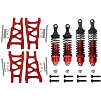 Traxxas LaTrax Teton Upgrade Parts Aluminum Front Or Rear Spring Dampers 59mm 1 Pair Set Orange