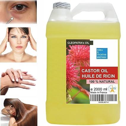 Aceite de Ricino Puro Natural 2000 ml - Castor Oil - Aceite de Belleza Anti bolsas