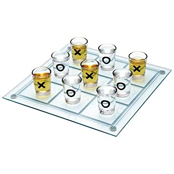 Buy Smartcraft Drinking Tic Tac Toe With 9 Shot Glasses Oxo X And 0 Drinking Games Adult Party Supplies Online At Low Prices In India Amazon In