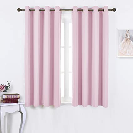 NICETOWN Blackout Curtains For Girls Room   Thermal Insulated Solid Grommet  Room Darkening Panels/Drapes