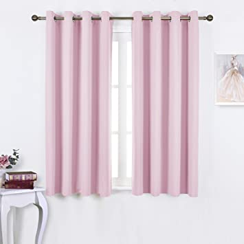 NICETOWN Blackout Curtains For Girls Room   Thermal Insulated Solid Grommet  Room Darkening Curtains / Panels