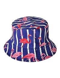 ZLYC Unisex Cute Animal Print Travel Bucket Hat Summer Fisherman Cap